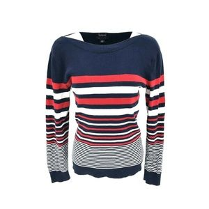 Tommy Hilfiger Boat Neck Knit Shirt Top Size XL